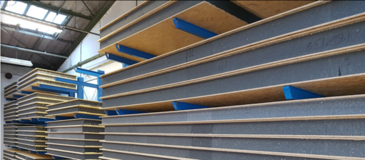 SIPS Panels in storage for the next customer