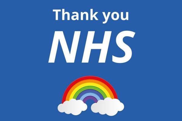 Thank you NHS rainbow