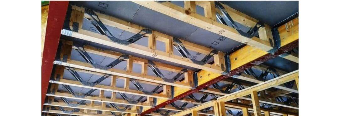 Showing our webbed joists being used in construction of affordable homes