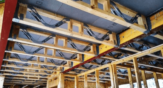 Sips Eco webbed joist system being leaves plenty of space for Sips plumbing