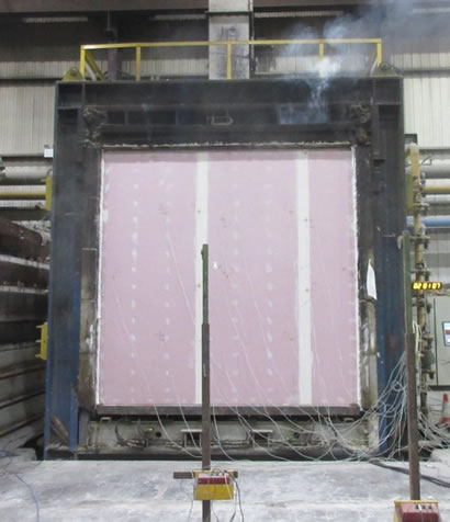 Are SIP Panels Fire Resistant - SIPs panels being tested