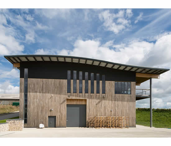 Rathfinny Winery used SIPs panels for their eco friendly building