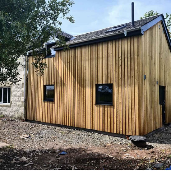 Beautiful home extension using SIPs modular panels