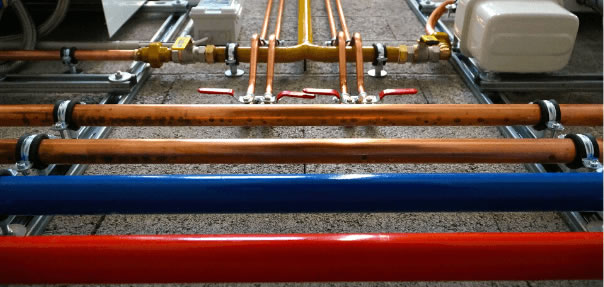 Sips plumbing system with various pipe types